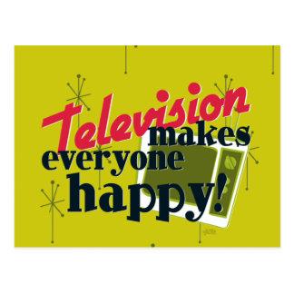 La télévision rend chacun heureux ! carte postale