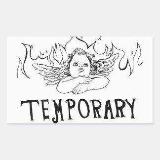 LA température Sticker Rectangulaire