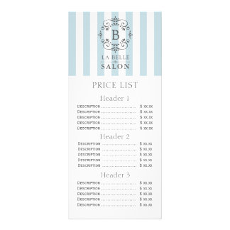 La tente de bleu français barre le menu de listes modèle de carte double