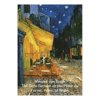 La terrasse de café sur l'endroit du Forum, Arles, Cartes De Visite Professionnelles