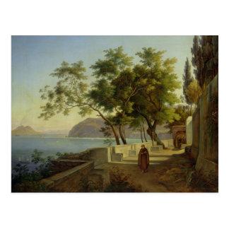 La terrasse du Capucins à Sorrente, 1828 Carte Postale