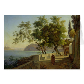 La terrasse du Capucins à Sorrente, 1828 Cartes