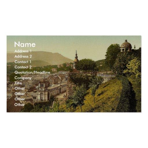 La terrasse du nouveau château, Baden-Baden, Baden Carte De Visite