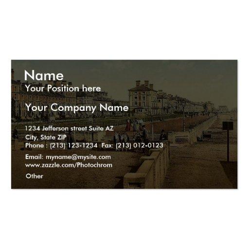 La terrasse, Lowestoft, Angleterre Photochrom rare Cartes De Visite Personnelles
