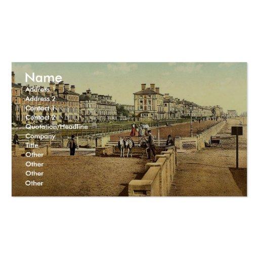 La terrasse, Lowestoft, Angleterre Photochrom rare Cartes De Visite Professionnelles