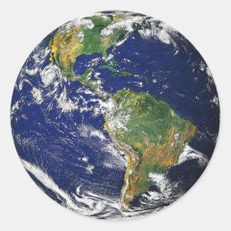 La terre, Amérique du Sud Autocollant Rond