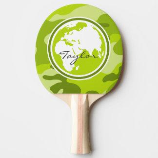 La terre ; camo vert clair, camouflage raquette de ping pong