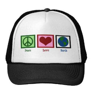 La terre d'amour de paix casquette de camionneur
