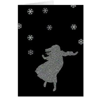 La terre de la neige cartes de vœux