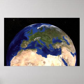 La terre de marbre bleue 7 de prochaine génération posters