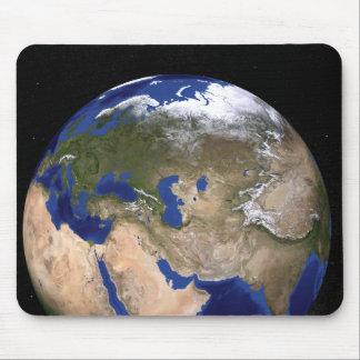 La terre de marbre bleue de prochaine génération tapis de souris