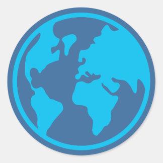 La terre de planète sticker rond