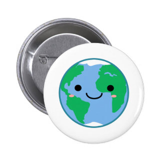 La terre de planète de Kawaii Badges