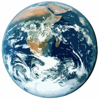 La terre de planète photo sculpture