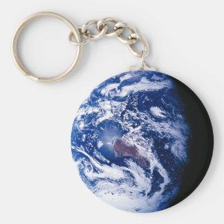 La terre de planète porte-clé rond