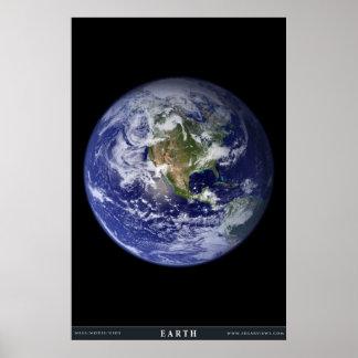 La terre de planète posters