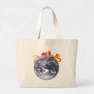 La terre de réchauffement climatique grand sac