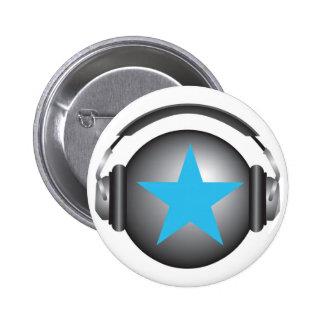la terre de ricorox du DJ avec des écouteurs Pin's Avec Agrafe