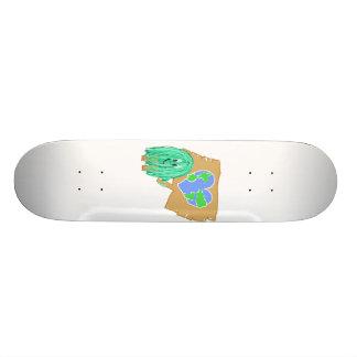 La terre en forme de coeur de planète plateaux de skate