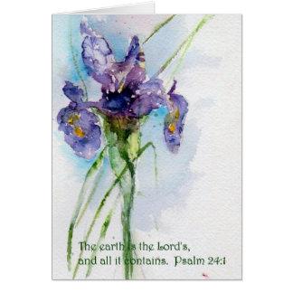 La terre est le 24:1   de Psalm du seigneur Cartes De Vœux