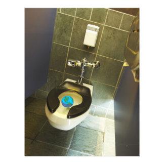 La terre et la toilette tract personnalisé
