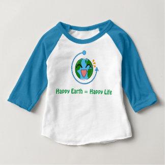 La terre mignonne - la chemise raglane des enfants t-shirt pour bébé