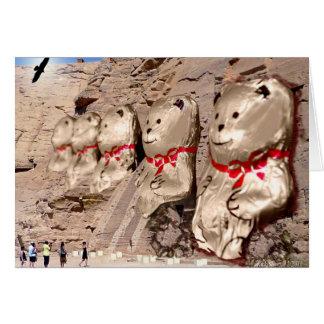 La terre oubliée de Ted - cartes de note d'ours de