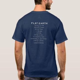 La terre plate - CRIQUÉE ! avec des écritures T-shirt