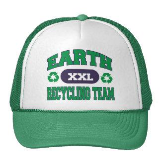 La terre réutilisant le cadeau d'équipe casquettes de camionneur
