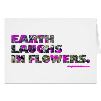 La terre rit en fleurs. Citation de Ralph Waldo Cartes De Vœux