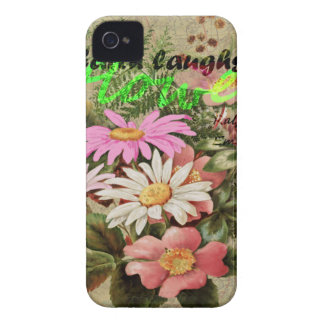 La terre rit en fleurs coques Case-Mate iPhone 4