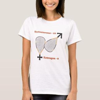 La testostérone gagne le racquetball t-shirt