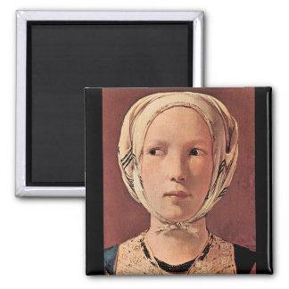 La tête de la femme de front par Georges de La Tou Magnets Pour Réfrigérateur