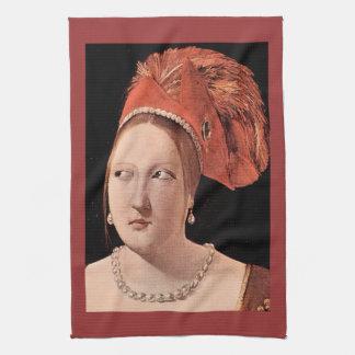 La tête de la femme par Georges de La Tour Serviette Éponge