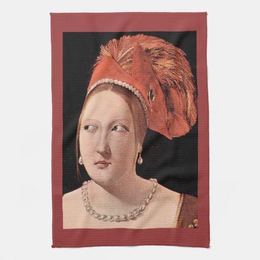 La tête de la femme par Georges de La Tour Serviette Pour Les Mains