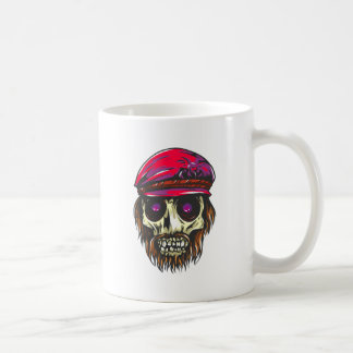 La tête de mort crâne de cheveux chapeau skull a h mug blanc