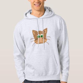 La tête du chat veste à capuche
