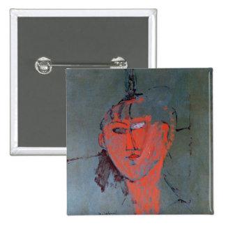 La tête rouge, c.1915 badge carré 5 cm