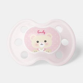 La tétine de peu de bébé d'ours