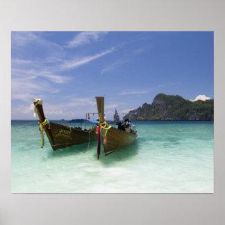 La Thaïlande, île de Don de phi de phi, plage de Y Poster