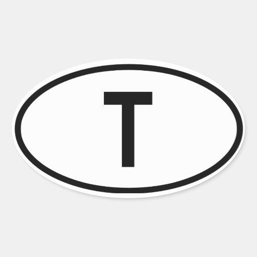 "La Thaïlande ""T "" Sticker Ovale"