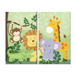 La toile d'animaux de safari de jungle imprime les toiles tendues