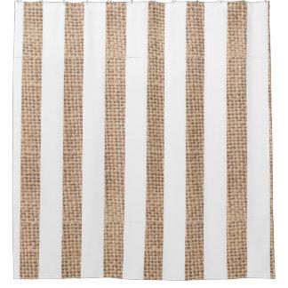 La toile de jute rustique barre le rideau en