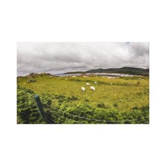"""La toile """"frôlant moutons"""" imprime/art de mur"""