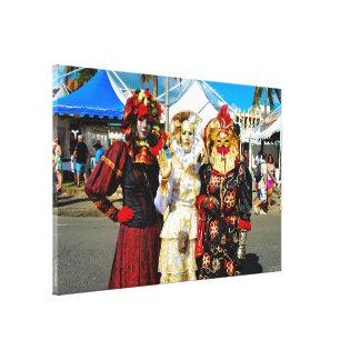 La toile imprimée des Touloulous de la Martinique