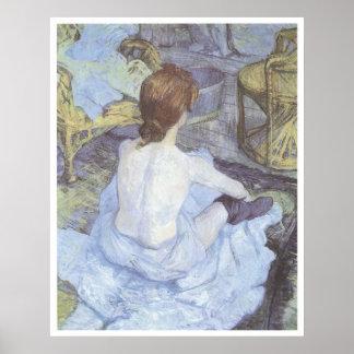 La toilette, Henri 1889 De Toulouse-Lautrec Posters