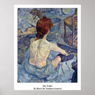La toilette, par Henri De Toulouse-Lautrec Poster
