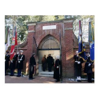 La tombe de Washington de visite de George W. et Carte Postale