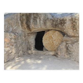 La tombe vide du Jésus-Christ sur la carte postale
