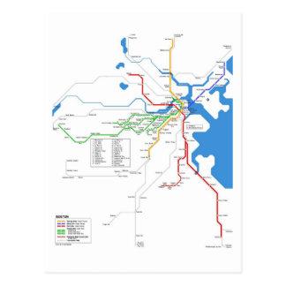 La tonne de forêt métro carte postale